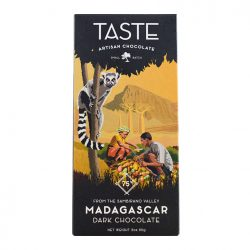 Taste Artisan Chocolate Madagascar 75% Dark Chocolate Bar