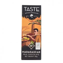 Taste Artisan Chocolate Mini Madagascar 58% Dark Milk Chocolate Bar