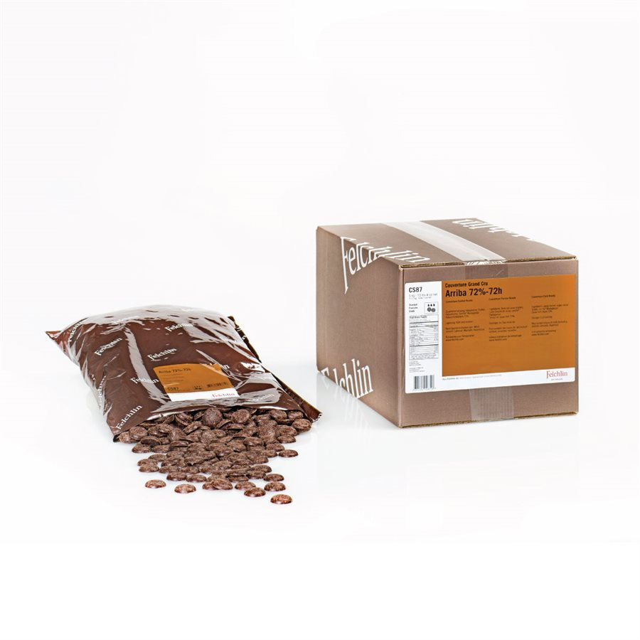 Felchlin Arriba Ecuador 72% Dark Couverture Chocolate