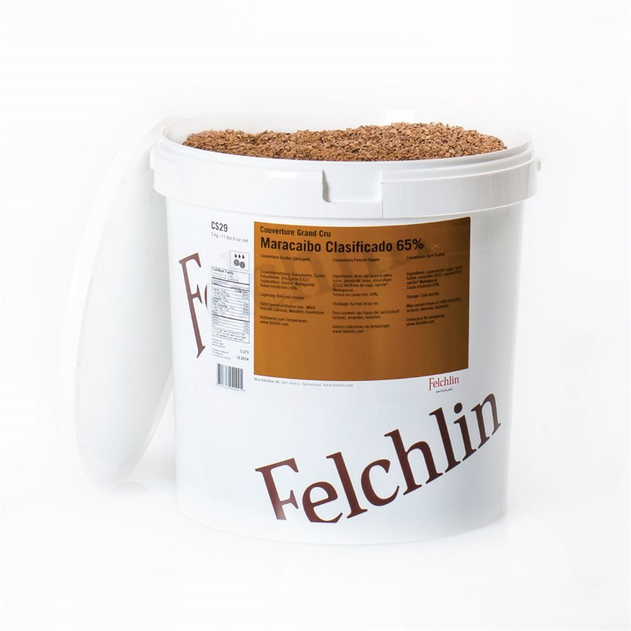Felchlin Maracaibo Venezuela Grated 65% Dark Couverture Chocolate