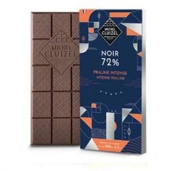 Michel Cluizel Lunar 72% Dark Chocolate Bar with Intense Praliné