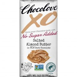 Chocolove XO 60% Dark Chocolate Bar with Salted Almond Butter Filling-min