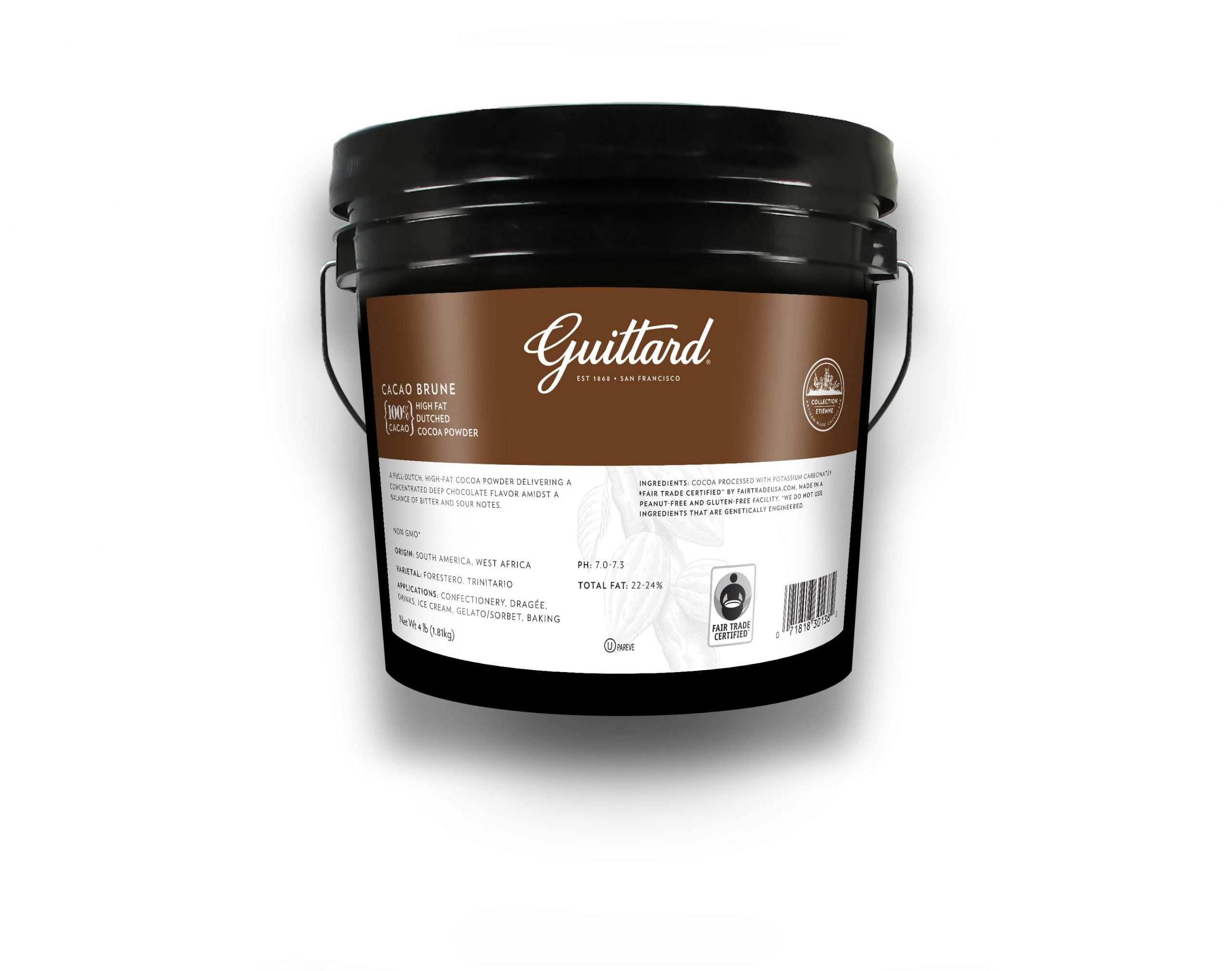 Guittard Jersey Cocoa x Cacao Brune Tub
