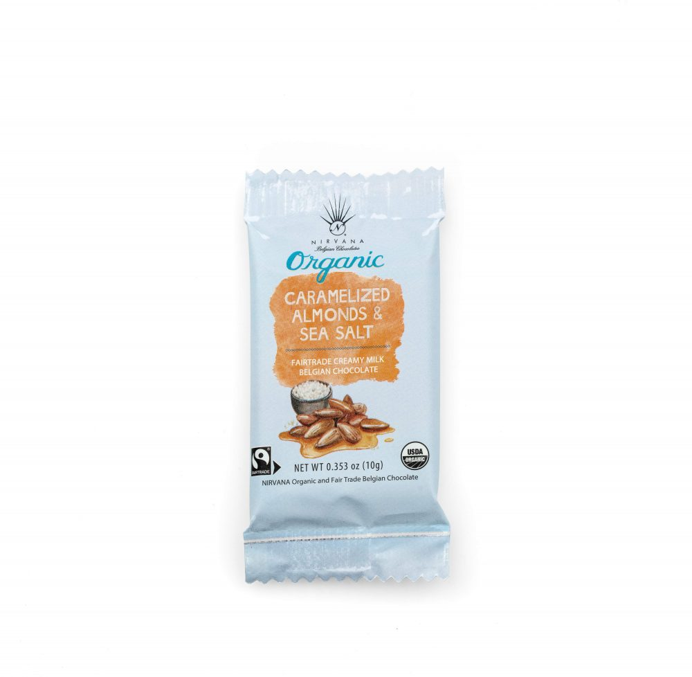Nirvana Mini Milk Chocolate Bars with Caramelized Almonds & Sea Salt Single