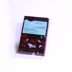 Charles Chocolates 65% Dark Chocolate Bar with Peppermint Bark