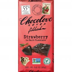 Chocolove 55% Dark Chocolate Bar with Strawberry Filling