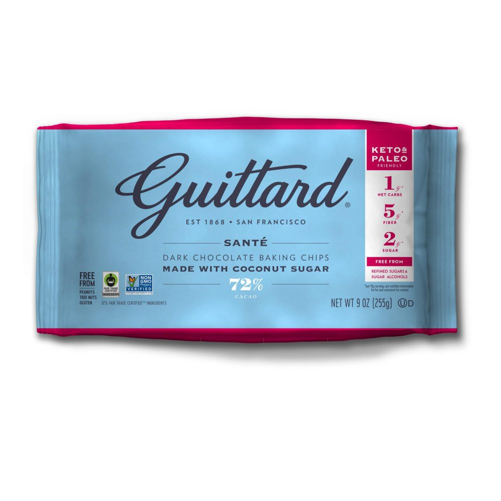 Guittard Beyond Sugar Santé 72% Dark Couverture Chocolate Wafers-min