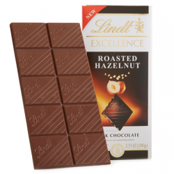Lindt Excellence Dark Chocolate Bar with Roasted Hazelnuts
