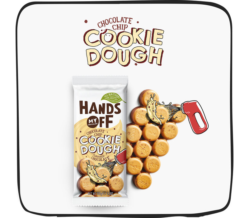 Hands Off My Chocolate Chocolate Chip Cookie Dough Flavored Chocolate Bar